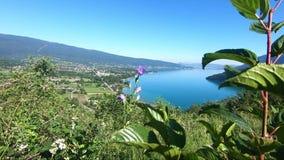 Widok jezioro Annecy, francuscy Alps zbiory