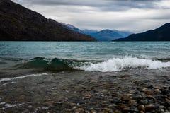 Widok jezioro cicho zdjęcie stock