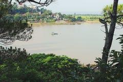 Widok jezioro od wierzchołka fotografia royalty free