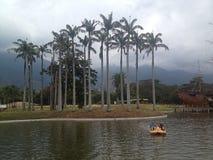 Widok jezioro przy wschodu parkiem Obrazy Royalty Free