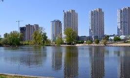 Widok jezioro Telbin Zdjęcie Stock