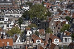 Widok Jordaan od Westerkerk w Amsterdam Fotografia Stock