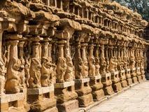Widok Kailasanathar świątynia w Kanchipuram, India obrazy royalty free