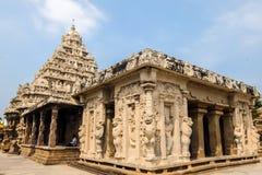 Widok Kailasanathar świątynia w Kanchipuram, India fotografia royalty free