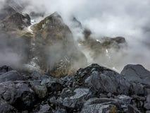 Widok Kala Patthar lub Czarne Rockowe góry blisko Lachen, Sikkim Obrazy Royalty Free