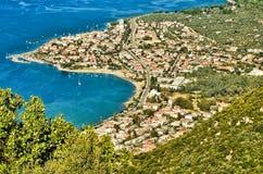 Widok Kameny Vourla miasteczko, Grecja obrazy royalty free
