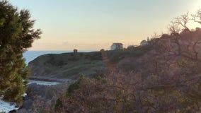Widok kamienna pla?a i Czarny morze zbiory