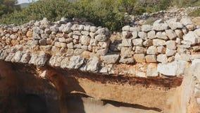 Widok kamienny kamieniarstwo antyczny dom zdjęcie wideo