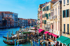 Widok kanał grande w Wenecja, Włochy Zdjęcia Stock