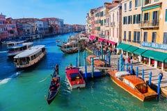Widok kanał grande w Wenecja, Włochy Obrazy Stock