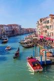Widok kanał grande w Wenecja, Włochy Zdjęcie Royalty Free