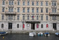 Widok Kanałowy Grande w Trieste zdjęcia royalty free