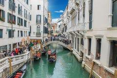 Widok kanał w Venice w Italy Obraz Royalty Free