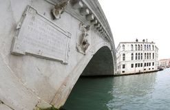 Widok kantora most dzwonił PONTE DI KANTOR w Wenecja Włochy Obraz Royalty Free
