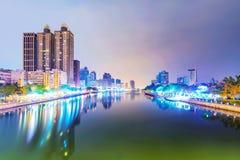 Widok Kaohsiung pieniężny okręg fotografia royalty free