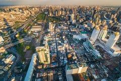 Widok kapitał Tajlandia Bangkok od wysokiego budynku Fotografia Stock