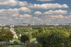 Widok kapitał, washington dc od Arlington cmentarza Fotografia Royalty Free