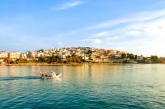 Widok Kastela, marina Zeas, Piraeus, Grecja zdjęcia stock