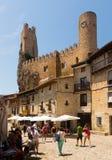 Widok kasztel Frias Prowincja Burgos obraz stock