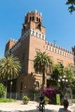 Widok kasztel Trzy smoka Castell dels Tres Drago fotografia royalty free