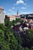 Widok kasztel w Czeskim Krumlov Obraz Royalty Free