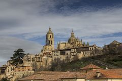 Widok katedra Segovia Obrazy Royalty Free