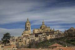 Widok katedra Segovia Zdjęcie Stock