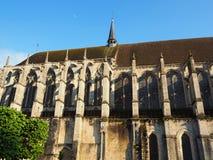 Widok Katedralna Notre-Dame de Chartres ind Chartres w Eure et Loir dziale Loire dolina, Francja obrazy royalty free