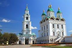 Widok Katedralny góruje w Astrakhan Zdjęcie Royalty Free
