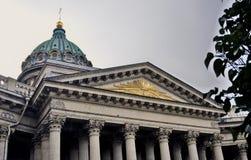 Widok Kazan ikony katedra w Petersburg mieście, Rosja Obrazy Stock