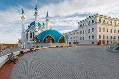 Widok Kazan Kremlin zdjęcia stock