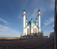 Widok Kazan Kremlowski meczetowy katedralny col zdjęcia royalty free