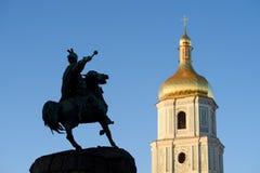 Widok Kijów, Sofia kwadrat -, Ukraina fotografia royalty free