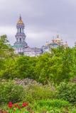 Widok Kijowski Pechersk Lavra, Ortodoksalny monaster kiev Ukraina zdjęcia royalty free
