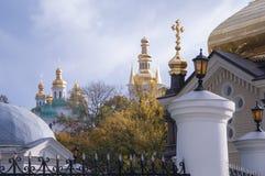 Widok Kijowski Pechersk Lavra w jesień dniu Fotografia Stock