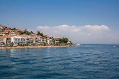Widok Kinaliada plaża, książe wyspy, Istanbuł, Turcja zdjęcie stock