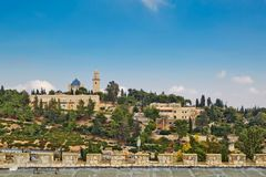 Widok kościół Dormition, Jerozolima, Izrael Fotografia Stock