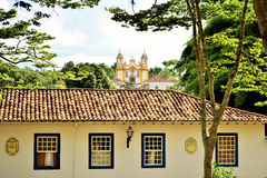 Widok kościół St Anthony matka - Tiradentes fotografia royalty free