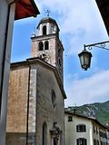 Widok kościół w nago Obraz Stock