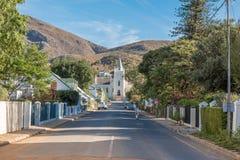 Widok Kościelna ulica w Montagu Zdjęcia Royalty Free