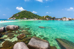 Widok Koh Nangyuan w Tajlandia zdjęcie stock