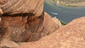 Widok Kolorado rzeka, podkowa chył Zdjęcia Royalty Free