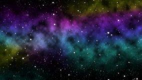 Widok kolorowy wszechświat ilustracja wektor