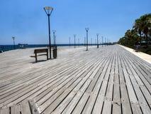 Widok kolumnada wzdłuż morza, Limassol, Cypr obrazy stock
