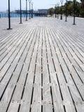 Widok kolumnada wzdłuż morza, Limassol, Cypr zdjęcie royalty free