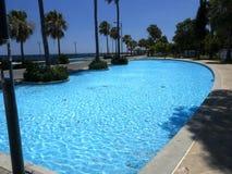 Widok kolumnada wzdłuż morza, Limassol, Cypr fotografia royalty free