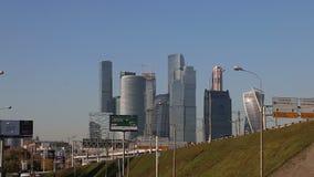 Widok kompleks drapacz chmur Moskwa miasto Rosja zbiory wideo