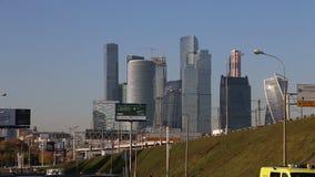 Widok kompleks drapacz chmur Moskwa miasto Rosja zdjęcie wideo