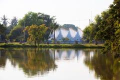 Widok kompleks Kuthodaw pagoda blisko Mandalay, Myanmar Zdjęcie Stock