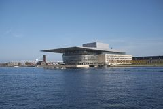 Widok Kopenhaga opera zdjęcia stock